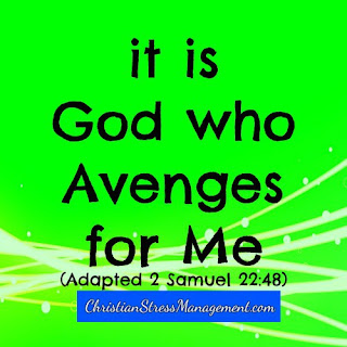 It is God who avenges for me. (Adapted 2 Samuel 22:48)