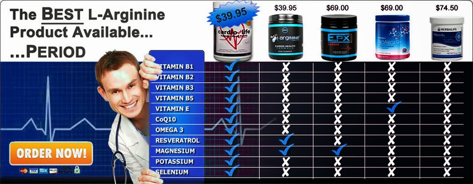 Cardio For Life L-Arginine Supplement