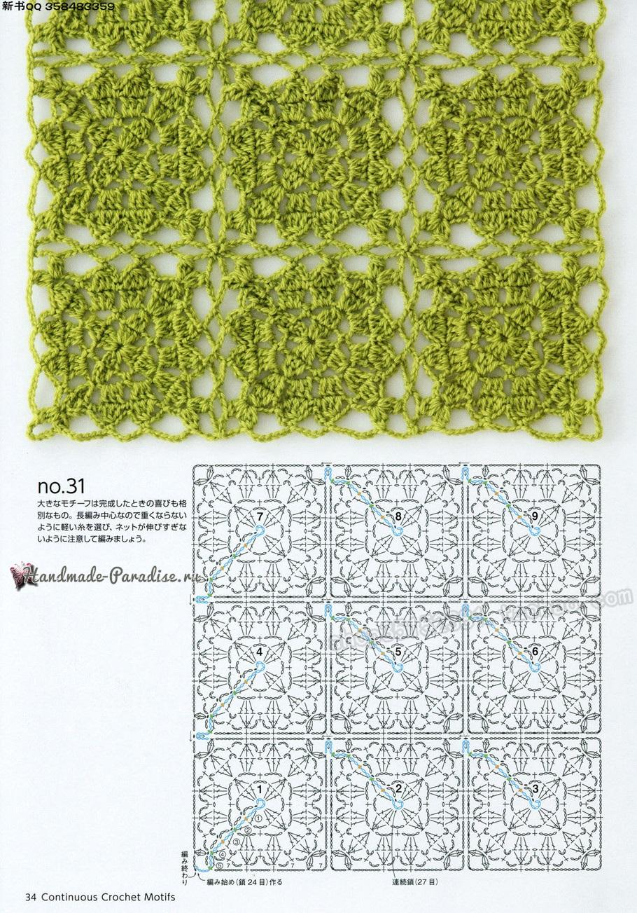 вязание схемы красивых ажурных узоров