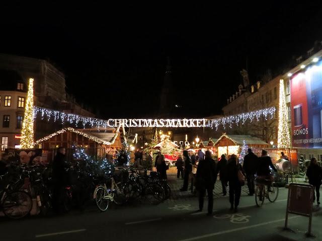 Stroget Christmas market in Copenhagen