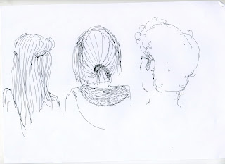 Year 1 and 2 practice: hair drawings
