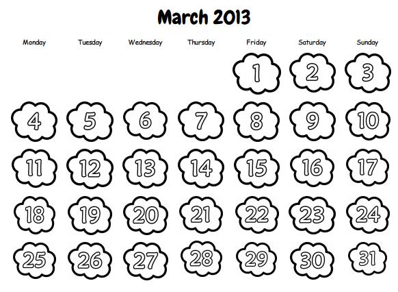 Recursos para el aula de lengua: Calendarios para imprimir
