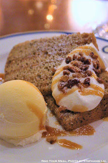 Tea Chiffon Cake with Vanilla Ice Cream at The Teddy Roosevelt Lounge in DisneySea Japan