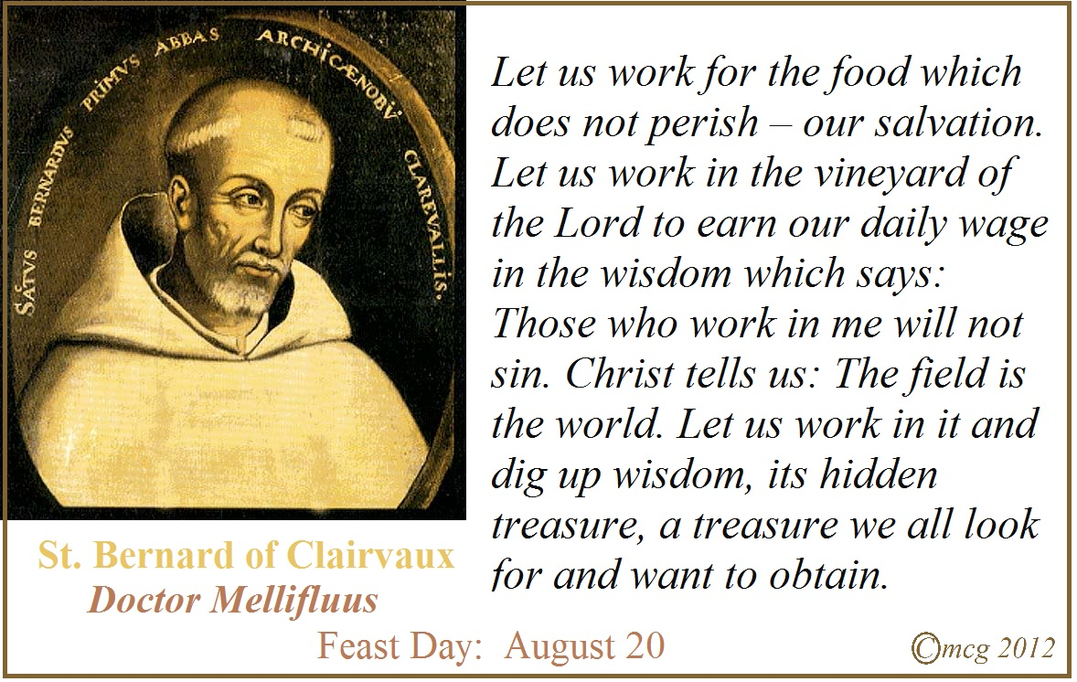 St Bernard Of Clairvaux Quotes: Little Office Of The Blessed Virgin Mary: The Mother Of