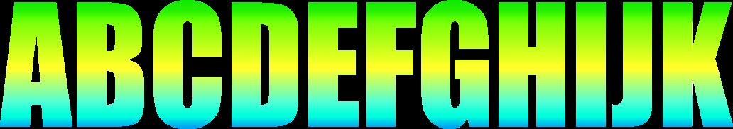 Alfabeto Copa Brasil 5 - Criação Blog PNG Free