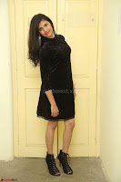 Mounika in a velvet short black dress for Tick Tack Movie Press Meet March 2017 096.JPG