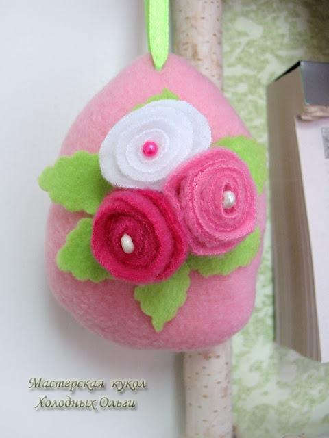 Яйцо бледно-розовое