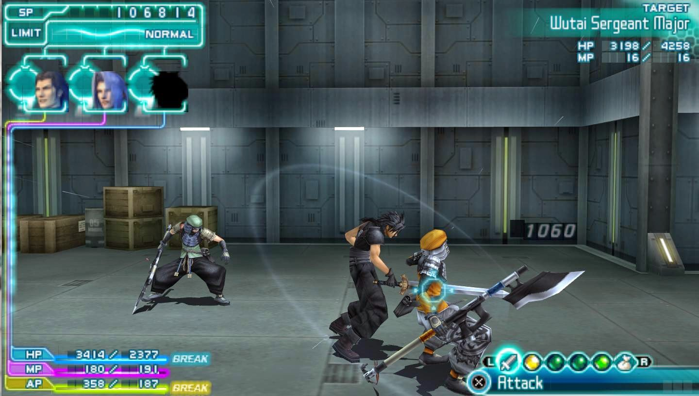 Crisis Core Final Fantasy Vii Gameplay