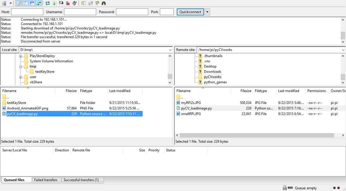 Hello Raspberry Pi: Easy copy files between Raspberry and