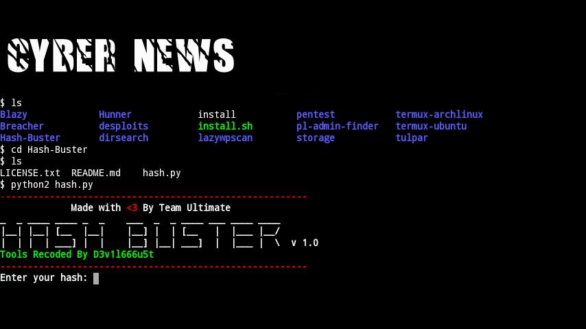 Cara decrypt MD5 dengan Hash Buster(Termux) - Linux Crews Indonesia
