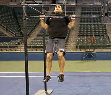 Crossfit Workout Chest 2 Bar Pull Ups