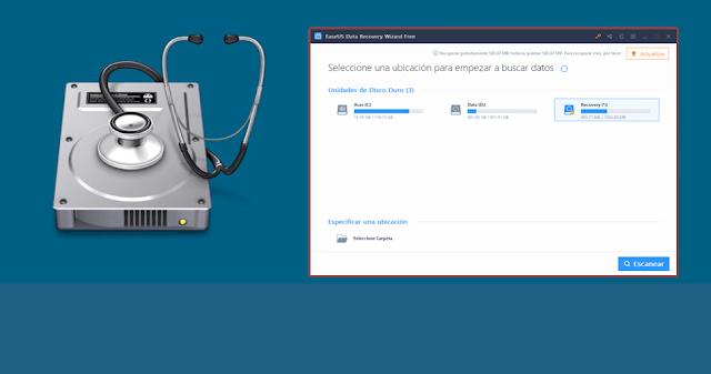 EaseUS Data Recovery récupère  les fichiers