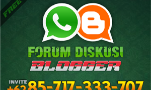 Group WA Forum Diskusi Blogger