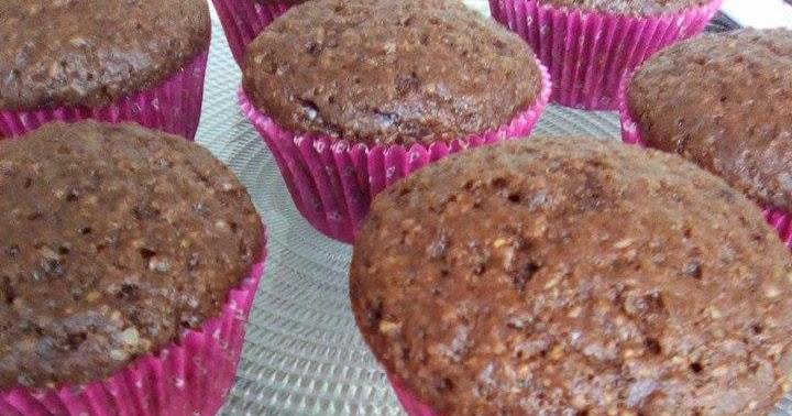 Muffin con farina integrale cacao e olio