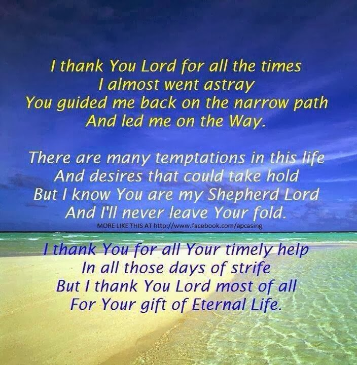 Thank You For Saving Me Quotes: I Thank You Lord For All The Times I Almost Went Astray