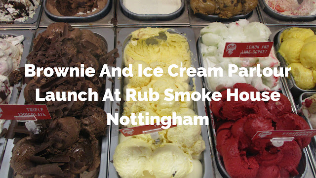 Brownie And Ice Cream Parlour Launch At Rub Smoke House Nottingham