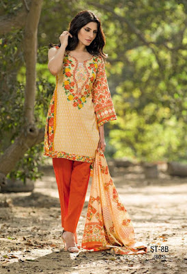 Cute Summer Lawn Dresses for Women 2017 by Shariq