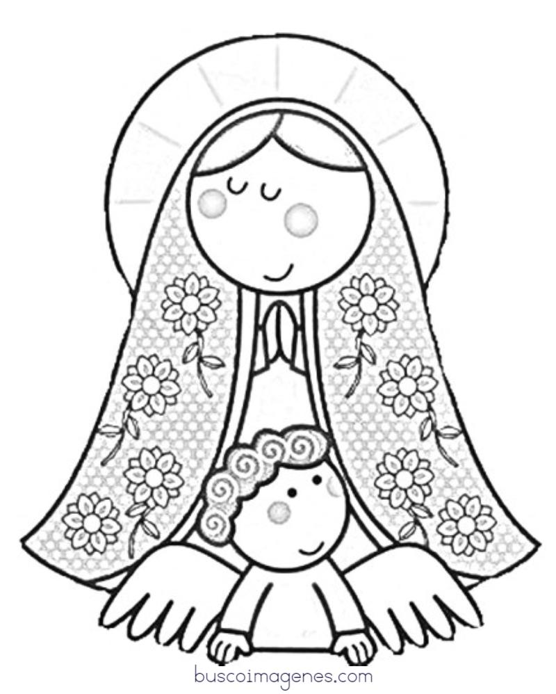 Imgenes De La Virgen De Guadalupe Para Colorear