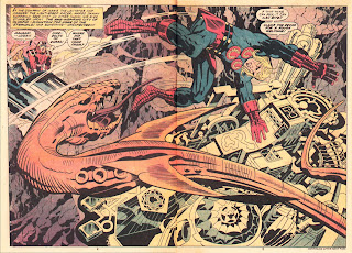 """Flying serpent over Olympia"" #9 of The Eternals by Jack Kirby"