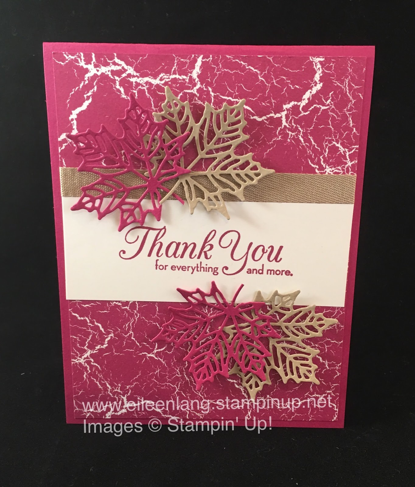 Eileen S Stamping Corner Fall Thank You Card