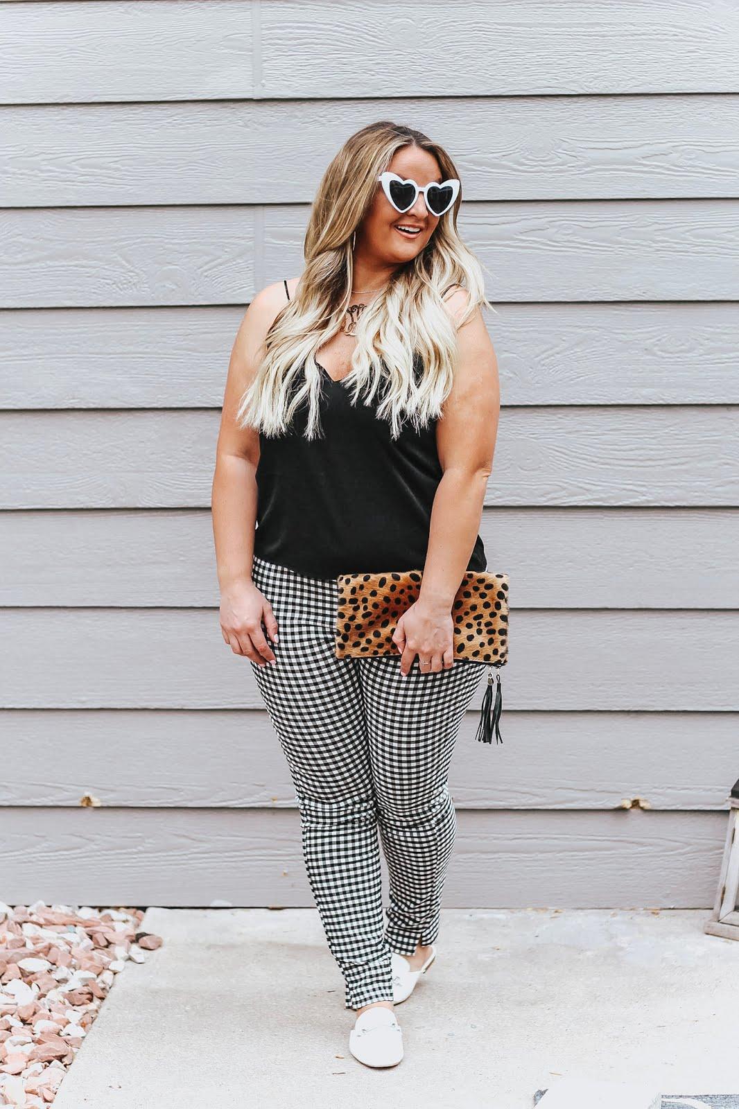 Gingham Pants featured by popular Denver fashion blogger, Delayna Denaye