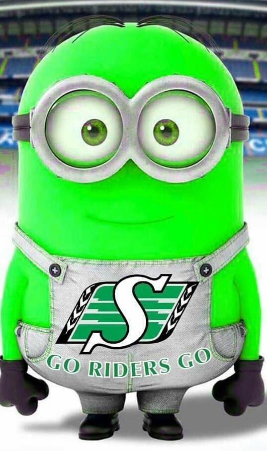 The Saskatchewan Roughrider's Minion!