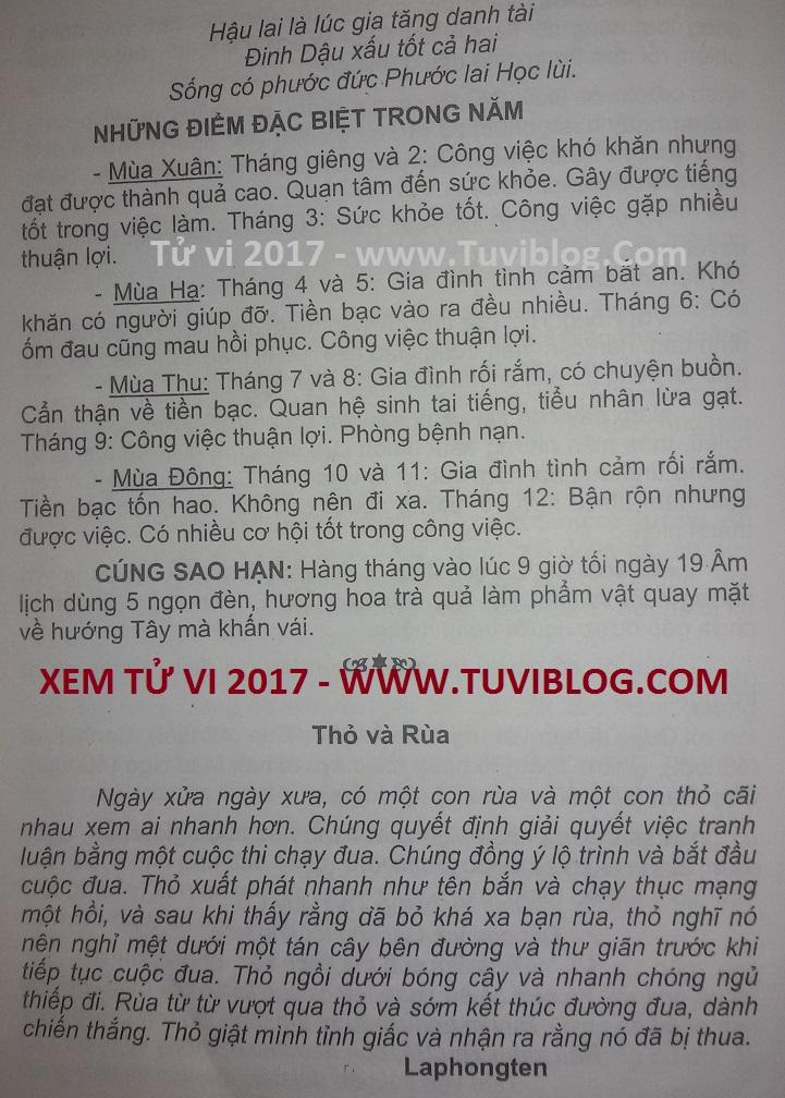 Tu Vi Tuoi Dinh Ty Nam 2017