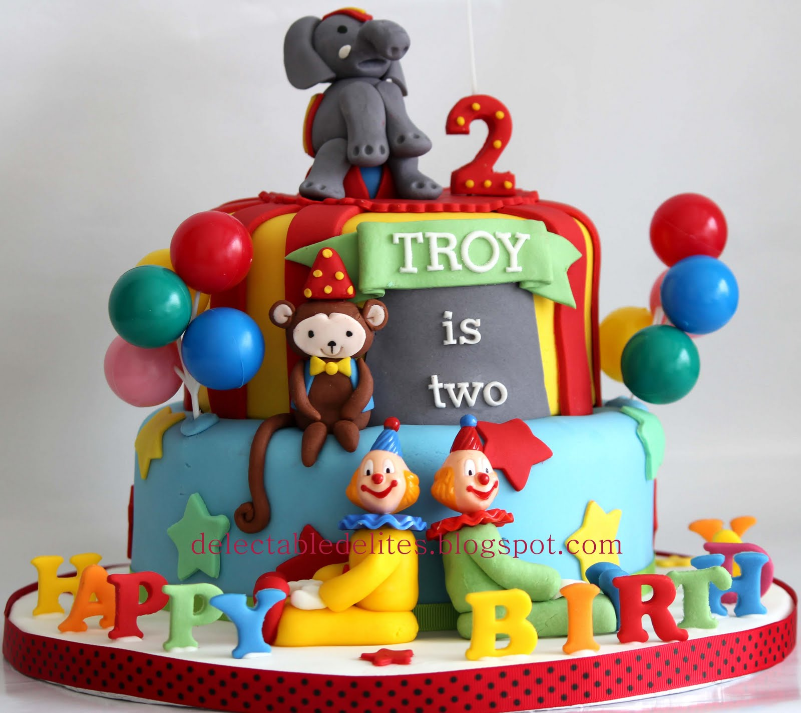 Delectable Delites: Circus Theme Cake For Troy's 2nd Birthday