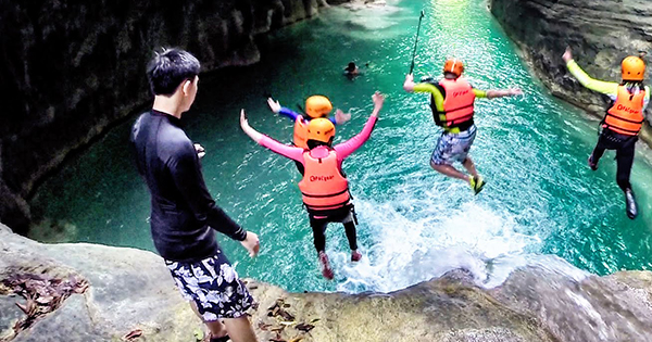 Kawasan Canyoneering at Matutinao Beach Resort