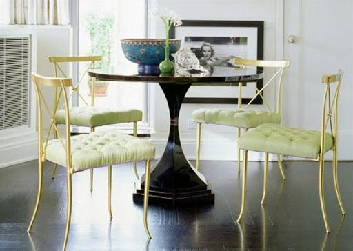 Tufted cushions for dining chairs