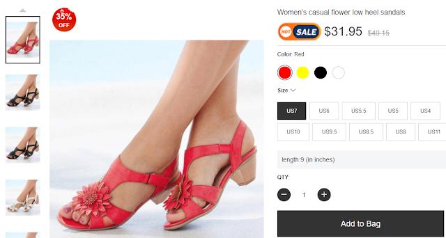 Berrylook - Women's casual flower low heel sandals (RMNOnline.net)