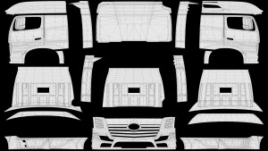 Templates for the new Mercedes Actros 2014