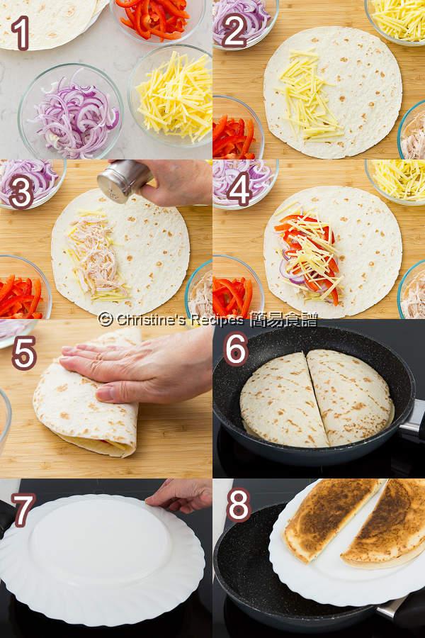 墨西哥芝士餡餅 Quesadillas Procedures