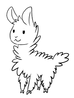 Cute Llama Coloring Pages Ideas
