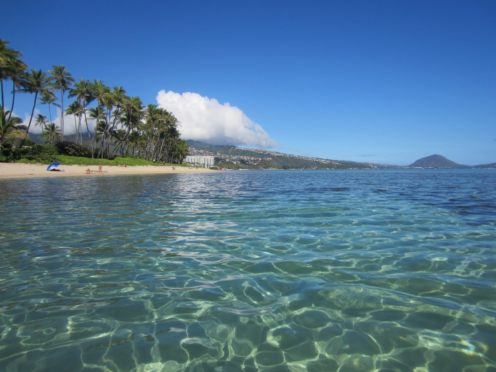 A Clear Day At Kahala Beach