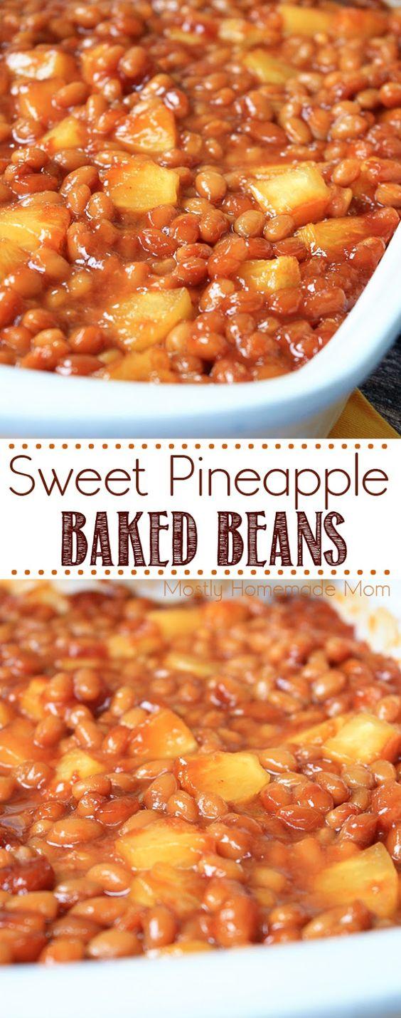 Sweet Pineapple Baked Beans