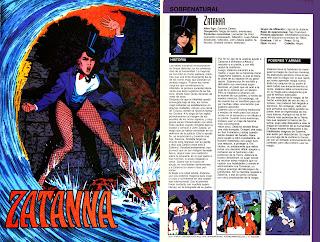 Zatanna Ficha DC Comics