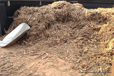 Hardwood mulch for rain garden