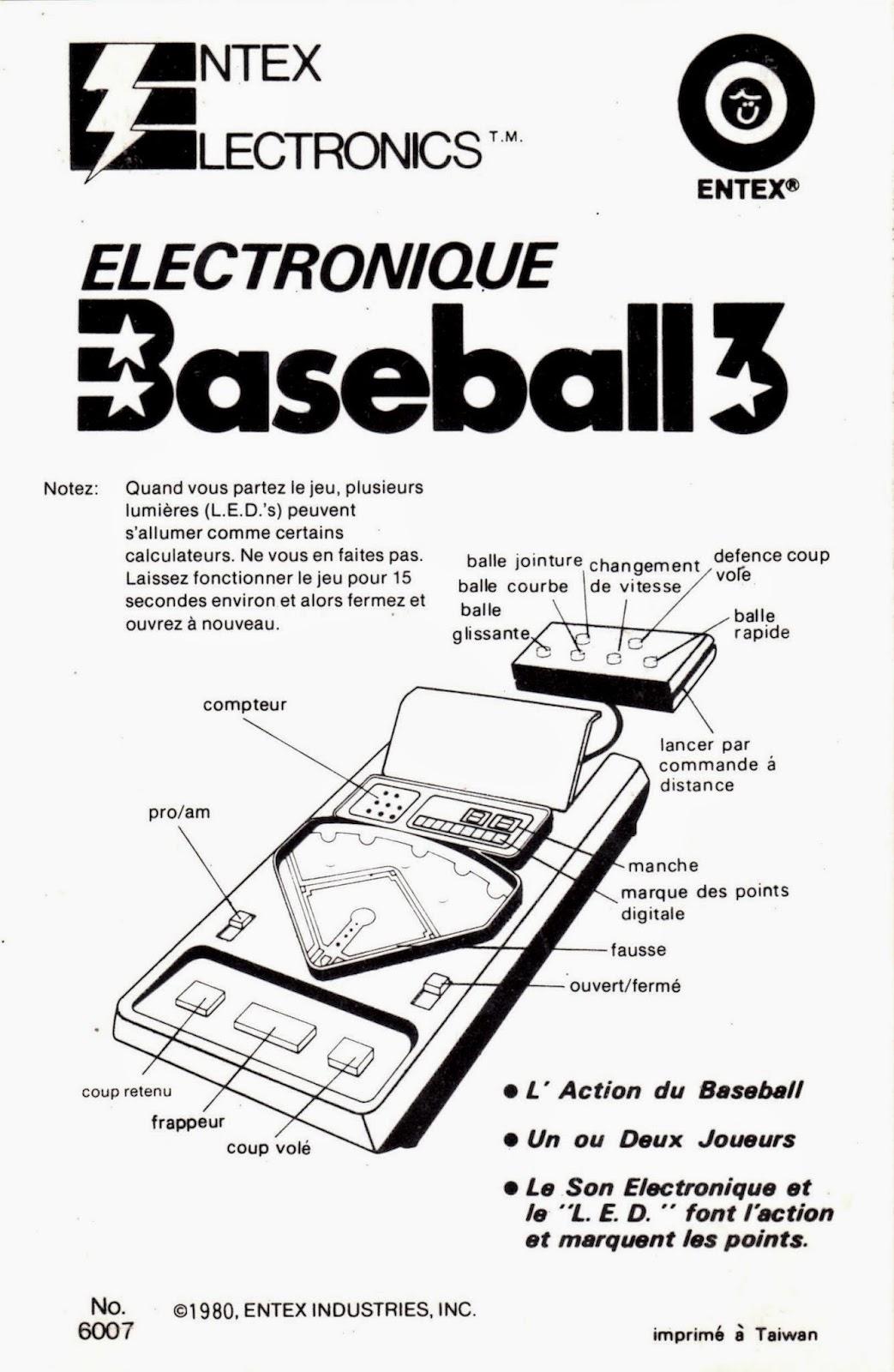 Electronic Baseball Entex