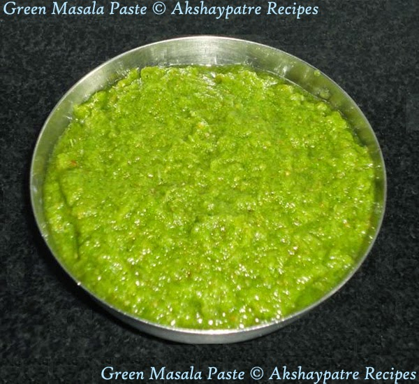 prepared green masala