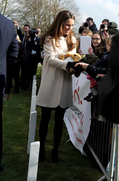 Kate Middleton, Duchess of Cambridge and Prince William visit the offices of child bereavemen