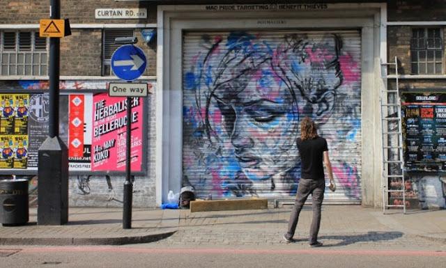 Уличный художник Дэвид Уокер (David Walker) 21