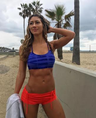 Elle Lisenbee at the beach