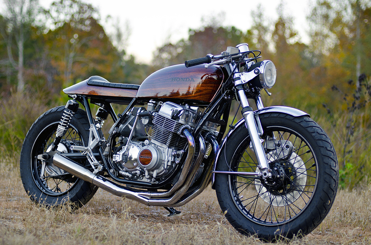 retaining retro woody honda cb750 return of the cafe. Black Bedroom Furniture Sets. Home Design Ideas