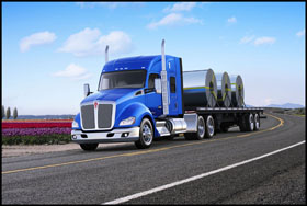 Kenworth T680 with 52-inch mid-roof sleeper