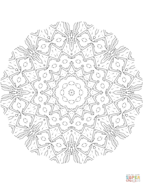 Click The Kaleidoscope Mandala Coloring Pages To View Printable Version Or  Color It Online Patible With Ipad And Android Tablets