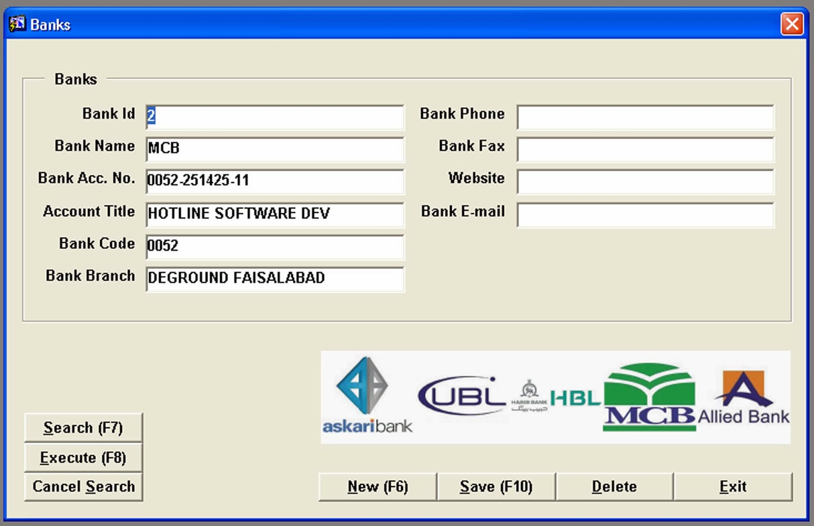 Hotline It Solutions Bank Account Form