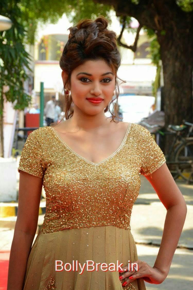 Oviya Stills, Oviya Hot Pics in golden dress from Sandamarutham Movie