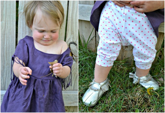 Sewing for the Girl: Scarf to Tunic and Dotted Leggings