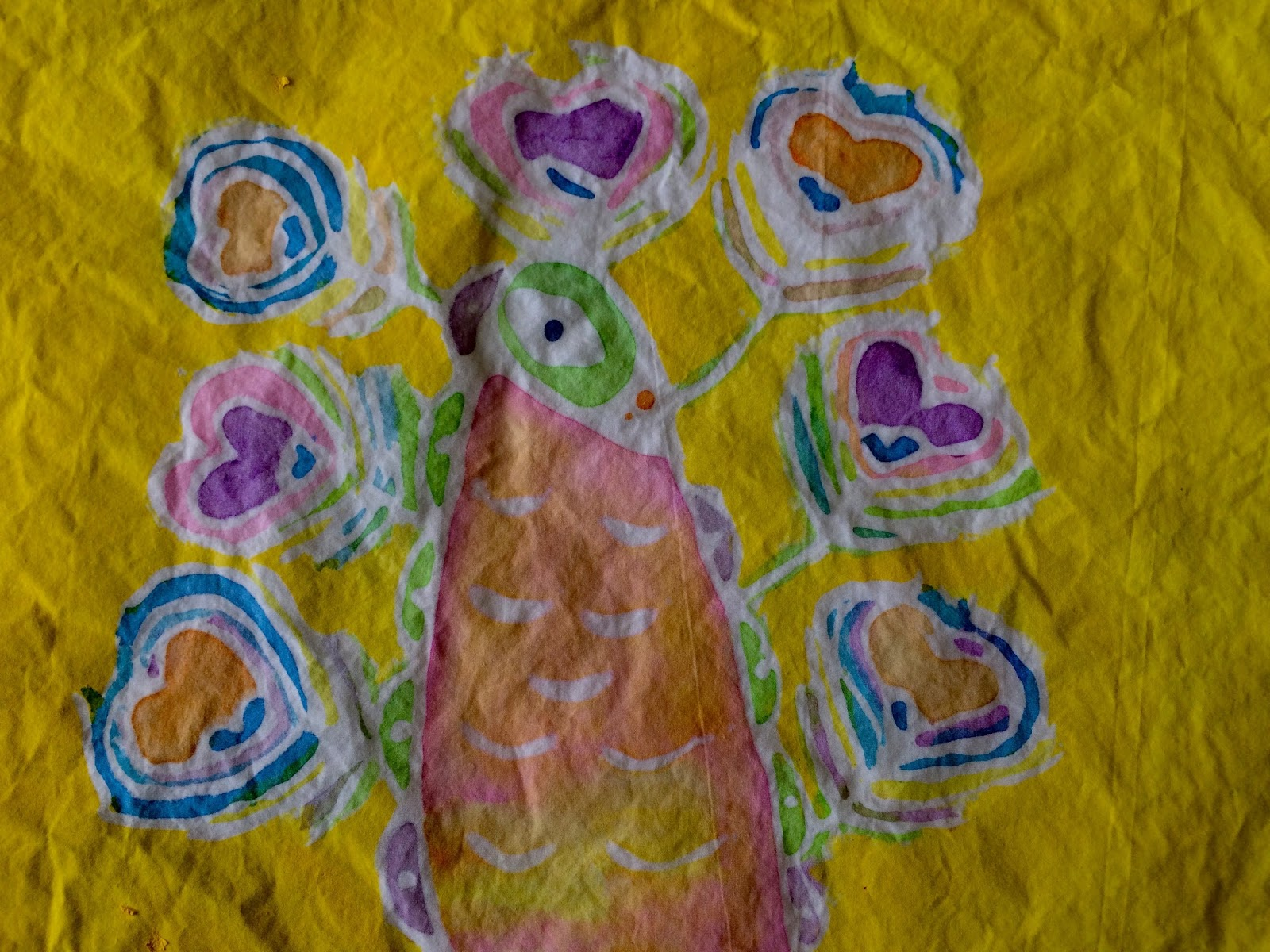 Kathy S Art Project Ideas Gel Glue Batik Lesson
